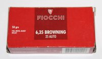 FIOCCHI 6,35mmBrowning / .25Auto 3,24g / 50gr FMJ 50...